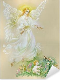 "Sticker Pixerstick Aquarelle ""Angel"""