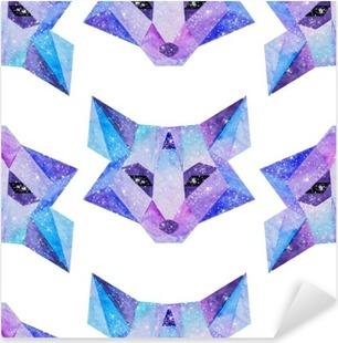 Sticker Pixerstick Aquarelle animaux cosmiques. Main illustration dessinée