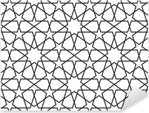 Pixerstick Sticker Arabisch naadloos patroon. Vector ornament