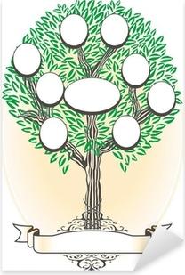árbol genealógico - Genealogía Pixerstick Sticker