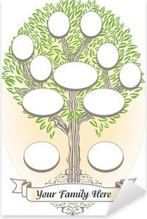 Sticker Pixerstick Arbre généalogique - Généalogie et histoire de famille ...