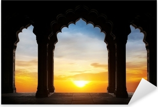 Arch silhouette at sunset Pixerstick Sticker
