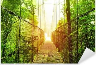 Pixerstick Sticker Arenal Opknoping Bridges park van Costa Rica