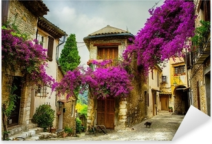 art beautiful old town of Provence Pixerstick Sticker