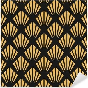 Pixerstick Sticker Art deco naadloze vintage behang patroon