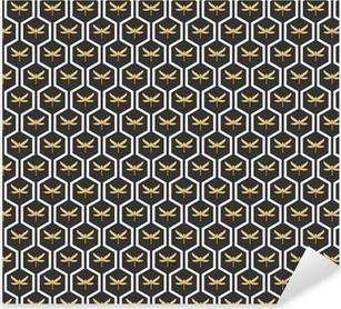Art Deco seamless vintage wallpaper patterns vector. Pixerstick Sticker