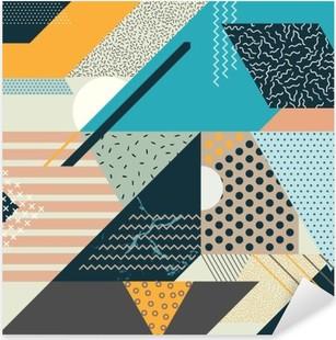Sticker Pixerstick Art fond géométrique
