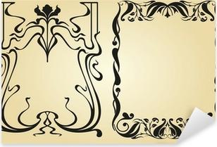 Pixerstick Sticker Art Nouveau ontwerp kader en elementen