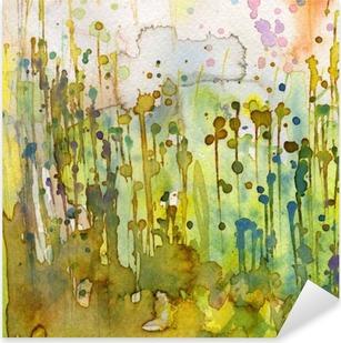 Pixerstick Sticker Artistieke achtergrond aquarel,