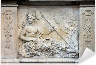 Athena Relief in Gdansk Pixerstick Sticker