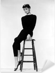 Audrey Hepburn Pixerstick Sticker