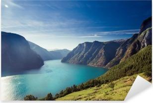 Sticker Pixerstick Aurlandsfjord en Norvège