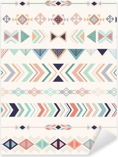 Aztec pattern. Seamless pattern with geometric elements. Pixerstick Sticker