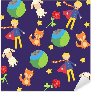 background with The little prince characters Pixerstick Sticker