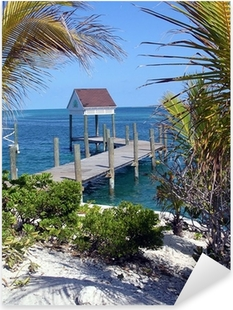 Sticker Pixerstick Bahamas jetée idylliques