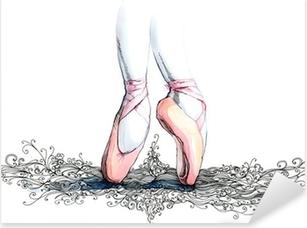 Pixerstick Sticker Balet danser (reeks C)