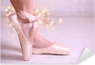 Pixerstick Sticker Ballerina in pointe schoenen in dance hall