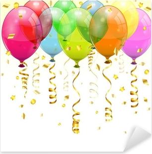 Sticker Pixerstick Ballons d'anniversaire