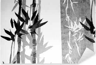 Sticker Pixerstick Bamboo texture