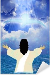 Baptism of Jesus Pixerstick Sticker