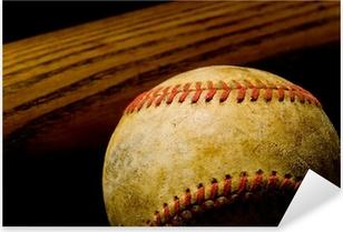 Baseball bat and Ball Pixerstick Sticker