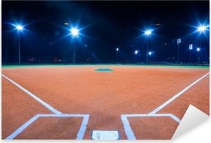 Baseball diamond at night Pixerstick Sticker