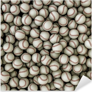 Sticker Pixerstick Baseballs background