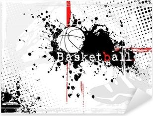Pixerstick Sticker Basketbal achtergrond