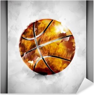Basketball ball watercolor Pixerstick Sticker