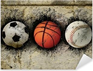 basketball, baseball and soccer Pixerstick Sticker
