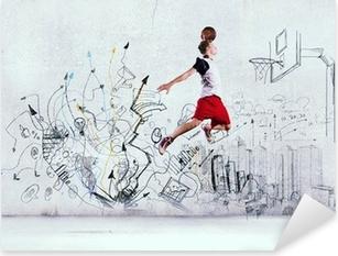 Basketball player Pixerstick Sticker