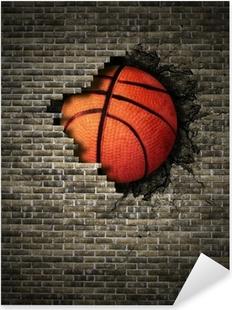 basketball Pixerstick Sticker