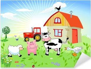 Bauernhof-Tiere Pixerstick Sticker