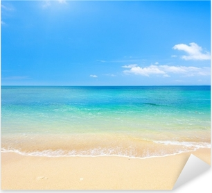 beach and tropical sea Pixerstick Sticker