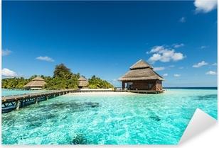 Sticker Pixerstick Beach Villas sur la petite île tropicale