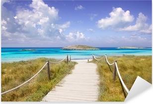 beach way to Illetas paradise beach Formentera Pixerstick Sticker