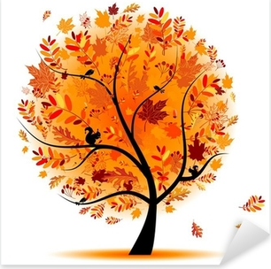 Beautiful autumn tree for your design Pixerstick Sticker