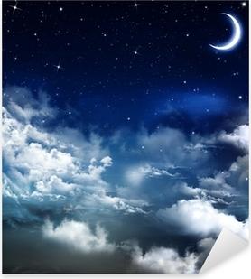 beautiful background, nightly sky Pixerstick Sticker