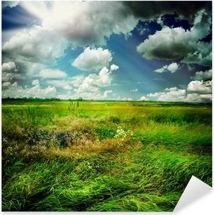 Beautiful Nature Rural Landscape Pixerstick Sticker