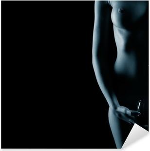 beautiful nude woman Pixerstick Sticker