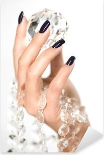 Beautiful woman hands with big diamond Pixerstick Sticker
