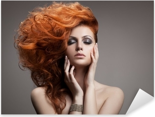 Beauty Portrait. Hairstyle Pixerstick Sticker