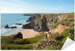 Bedruthan Steps Cornwall Uk Pixerstick Sticker