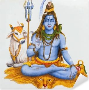 Pixerstick Sticker Beeld van Shiva