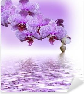 Sticker Pixerstick Belle orchidée lilas