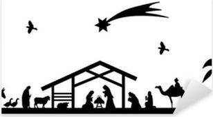 Bethlehem silhouette Pixerstick Sticker