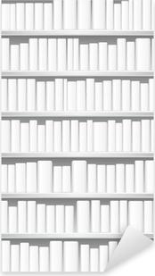 Sticker Pixerstick Bibliothèque avec des livres blancs