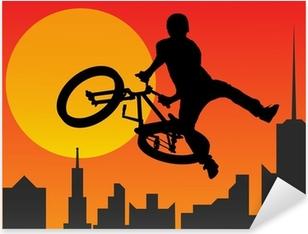 Sticker Pixerstick Bicyclist