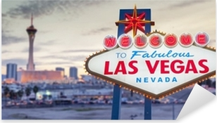 Sticker Pixerstick Bienvenue à Las Vegas signe