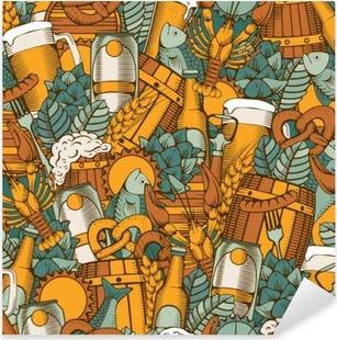 Pixerstick Sticker Bier Naadloze Patroon